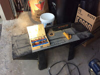 Craftsman router table with Master Craft router bits
