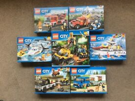 Lego City 7 Sets New and Sealed