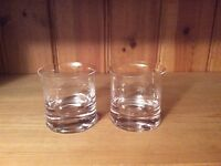 Two fine whisky glasses