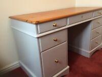 Solid Pine 8 Drawer Desk
