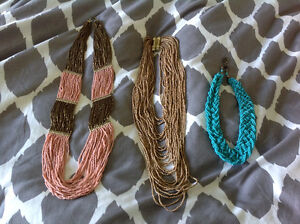 3 beaded necklaces from Forever 21