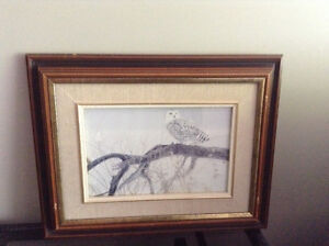 4 solid wood framed animal prints   8.00 each or all 4 for 20.00 Kingston Kingston Area image 1