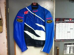 motorcycle leather jacket vanson gsxr suzuki size 46