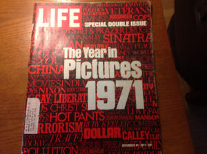 "LIFE MAGAZINE "" THE YEAR IN PICTURES 1971"""