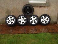 Nissan Primera p12 alloy wheels & tyres