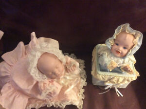 Porcelain dolls. Three are musical. $30 each