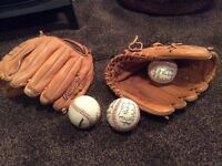 American Leather Rawlings Catchers mitt and ball - two sets £40 each