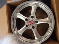 Four 18' Victor equipment aluminium rims