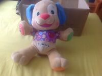 Fisher price learning teddy for babies / children talking, lights sing along