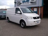56REG VW TRANSPORTER SWB T5 TDI FULLY COLOUR CODED WITH NO VAT TO PAY @ SVS