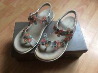 Cipriati silver sandals size 5