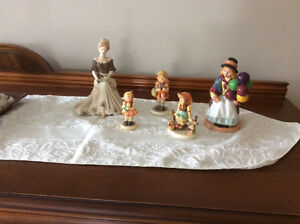 royal doulton and Hummel figurines