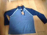 Fat Face Men's zip fasten blue fleece, size XL. Unworn, unwanted gift, New with tags