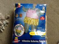 Adult inflatable ballerina costume