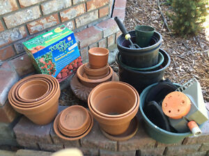 Clay pots etc