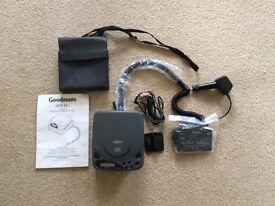 Goodmans portable car cassette converter to CD + CD player