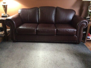 Leather sofa and / or ottoman