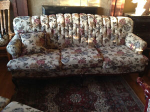 Matching vintage sofa love seat chair