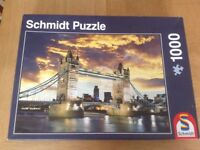 Tower bridge at night puzzle