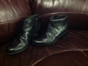 Clarks leather ankle boots
