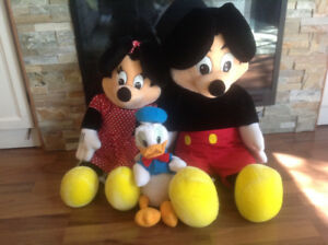 Vintage Mickey Mouse Stuffed Toys