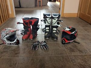 Motorcycle Boots, Helmets, Gloves