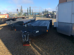 Barely used 2016 Precision 26' equipment trailer