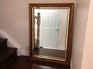 "Beautiful gold framed mirror 100./. Ex Conditions ,Height 42.5""x"