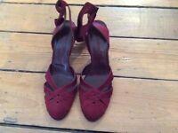L K Bennett wine shoes