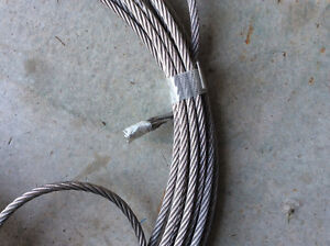 5/16 Galvenized Steel Aircraft Cable with Eyelets Windsor Region Ontario image 7