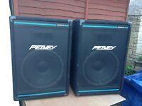 Peavey Eurosys 2 ,, 250 watt PA SPEAKERS + stands