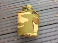 Camo water bottle and pouch