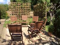 Garden table chairs