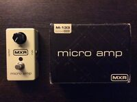 MXR Micro Amp guitar pedal M133 - Boxed