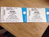 UB40 Tickets x 2