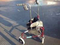Mobility three wheel braked trolley