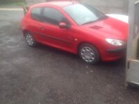 PEUGEOT 206 INDEPENDENCE SPARES OR REPAIRS