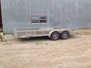 2005 Millroad Aluminum Custom Trailer with solid sides