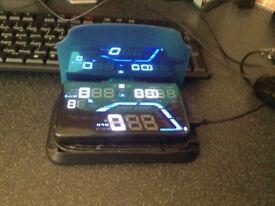 GPS HUD speedometer.