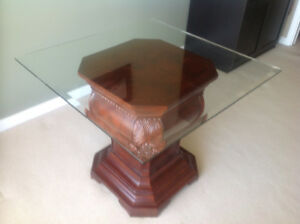 Glass Top Area Table