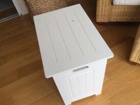 White linen box