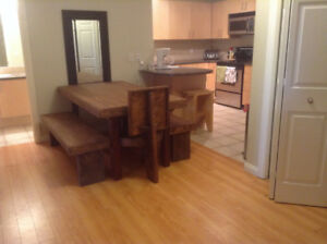Unique handmade wooden dining room table for sale