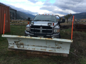 2005 Dodge Power Ram 3500 Flat Deck with Snow Plow