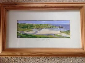 Three Cliffs Bay Framed Picture
