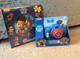 Paw Patrol brand new toys - camera and puzzle book