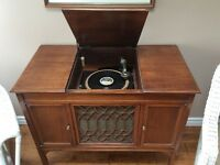 Antique Floor Model Edison Disc Phonograph - New Price