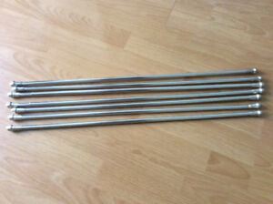 CURTAIN RODS - METAL WITH KNOBS & WHITE RODS -MAINSTAY