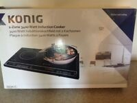 Konig 2 zone induction cooker