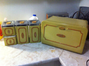 Bread Box and Canisters