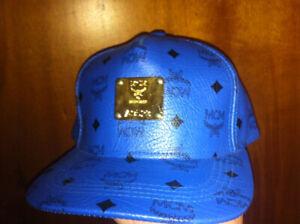 Mcm blue cap snapback new